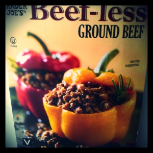 Beef-Less Ground Beef is a great addition in vegetarian meals because its neutral flavor quickly absorbs seasonings, and it's packed with protein.
