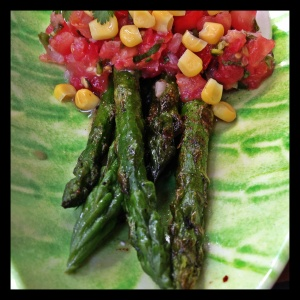 Despite the extra cost, one early dinner was spent at Rita's, where we enjoyed house-made quacamole, salsa, and unique vegetarian plates including this spiced asparagus.