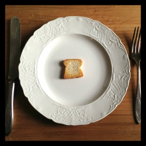 Today, we're talking mini toasts. And how we can all learn to simplify our diets from this adorable little snack.