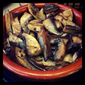 A bowl of Sauteed Portobello Mushrooms from Tapeo in Boston demonstrates how even the most simple mushroom dishes can be earthy, savory sensations.