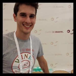 Gabriel Wolff, CEO of Wink Frozen Desserts, making sugar-free, fat-free, almost-calorie free ice cream without a trace of the top 8 allergens.