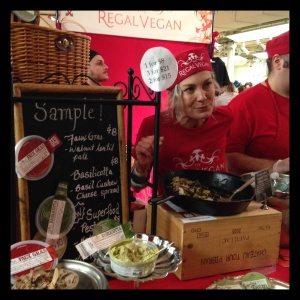 No detail was left untouched at The Regal Vegan stand. A sweet mushroom bisque was one of their fantastic offerings.