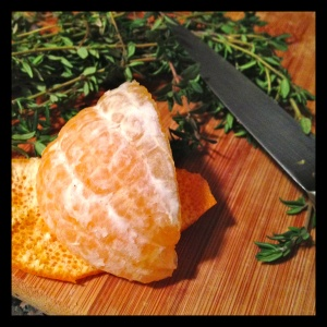 To simplify the zesting process, peel your orange as if you were to eat it. Using a very sharp, small knife, remove remnants of the membrane and the pith from the peel - which is where all the flavor resides.