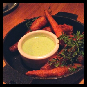 A thick batter made this renowned dish a bit too unhealthy for the LWB palate. One bite, and the crispy exterior fell right off the fry, leaving a sweet roasted thumbelina carrot. Of course, no vegetable fry is unpleasant even at its worst - and these were anything but bad. Definitely put in an order, but make sure you split them with your table mates, and order another side (the kohlrabi was our favorite; the twice-baked celery root also has a phenomenal reputation).