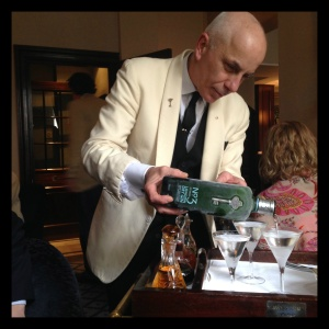 Watch the master pour a perfect martini with one of the city' favorite gins, No. 3 London Dry.