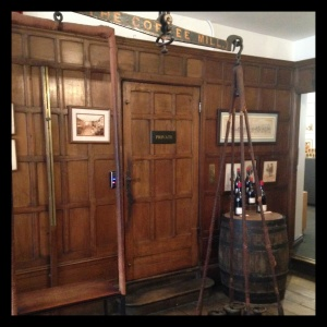 Inside the historic Berry Bros & Rudd wine and spirit shop at No. 3 St. James Place.